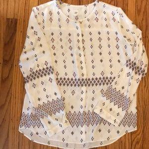 Gap single button blouse